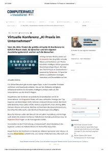 Virtuelle Konferenz – KI Praxis im Unternehmen