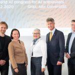 Christian Rechberger, Stefanie Lindstaedt, Adelheid Merkl, Harald Kainz, Gerhard Schagerl © Know-Center GmbH, Fotograph Jorj Konstantinov