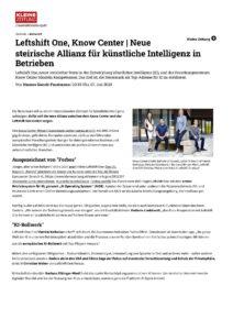 Neue steirische Allianz für künstliche Intelligenz in Betrieben