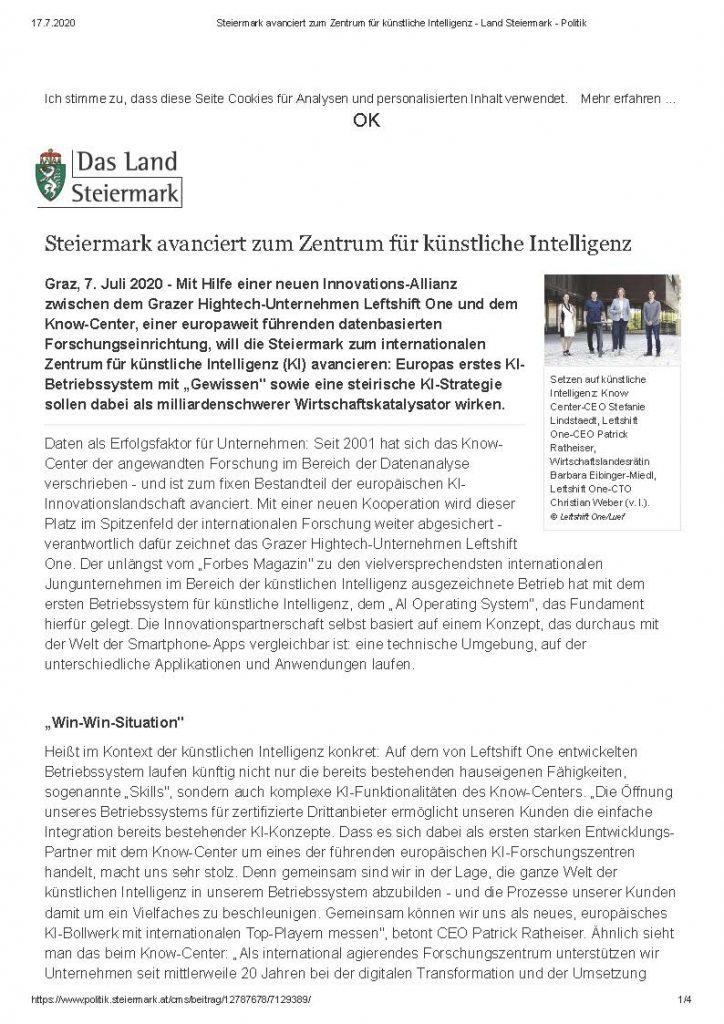 2020-07-07_Steiermark avanciert zum Zentrum für künstliche Intelligenz-Land Steiermark - Politik_Seite_1