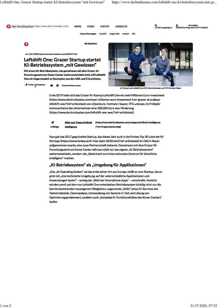 2020-07-10_Der Brutkasten_Grazer Startup startet KI mit Gewissen
