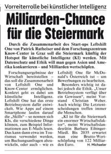 Milliarden-Chance für die Steiermark