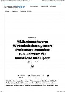 Milliardenschwerer Wirtschaftskatalysator: Steiermark avanciert zum Zentrum für KI