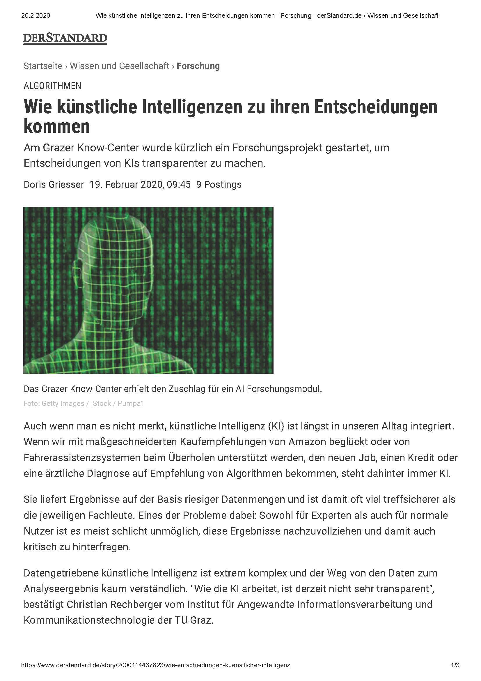 2020-02-20__standard.at_Wie künstliche Intelligenzen zu ihren Entscheidungen kommen_Seite_1