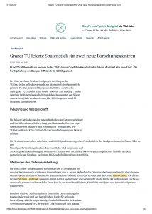 Grazer TU feierte Spatenstich für zwei neue Forschungszentren