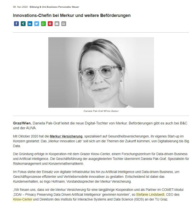 2020-11-10_Extrajournal.net_InnovationsChefin bei Merkur und weitere Beförderungen