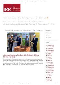 Grundsteinlegung Neubau SAL Building & Data House TU Graz