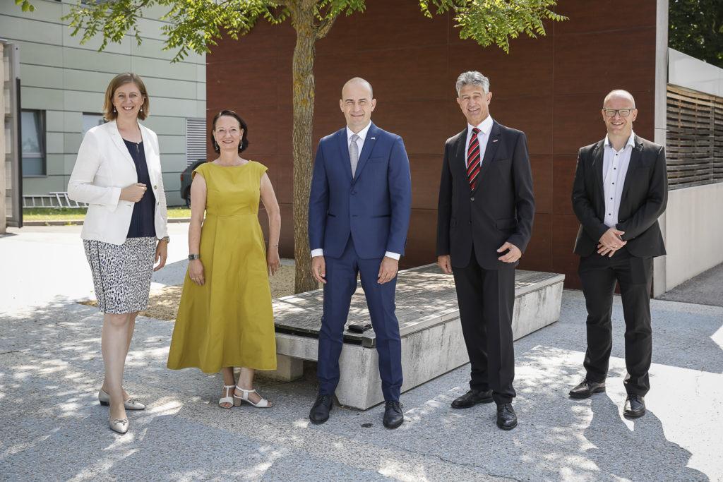 v.l.n.r.: Barbara EIBINGER-MIEDL, Stefanie LINDSTAEDT, Martin SCHAFFER, Harald KAINZ, Stefan THALMANN  © Know-Center