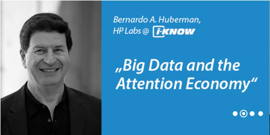 Bernardo Huberman als Keynoter @ i-KNOW 2014!