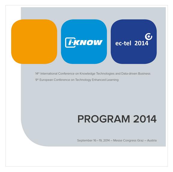 i-KNOW 2014: Konferenz Programm ist online!