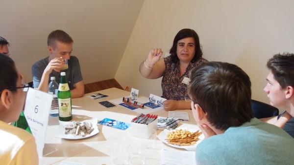 Carla Barreiros, Know-Center im Dialog mit den Jugendlichen
