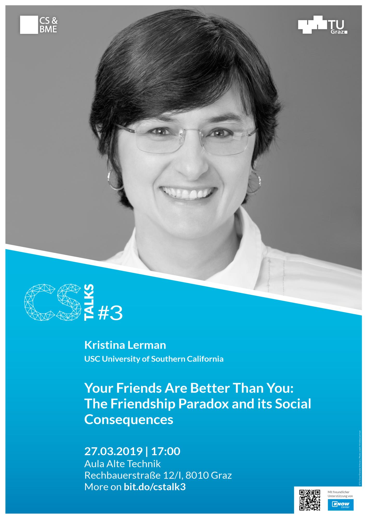 Kristina Lerman sprach auf CS Talks über heimtückische Social-Media-Algorithmen