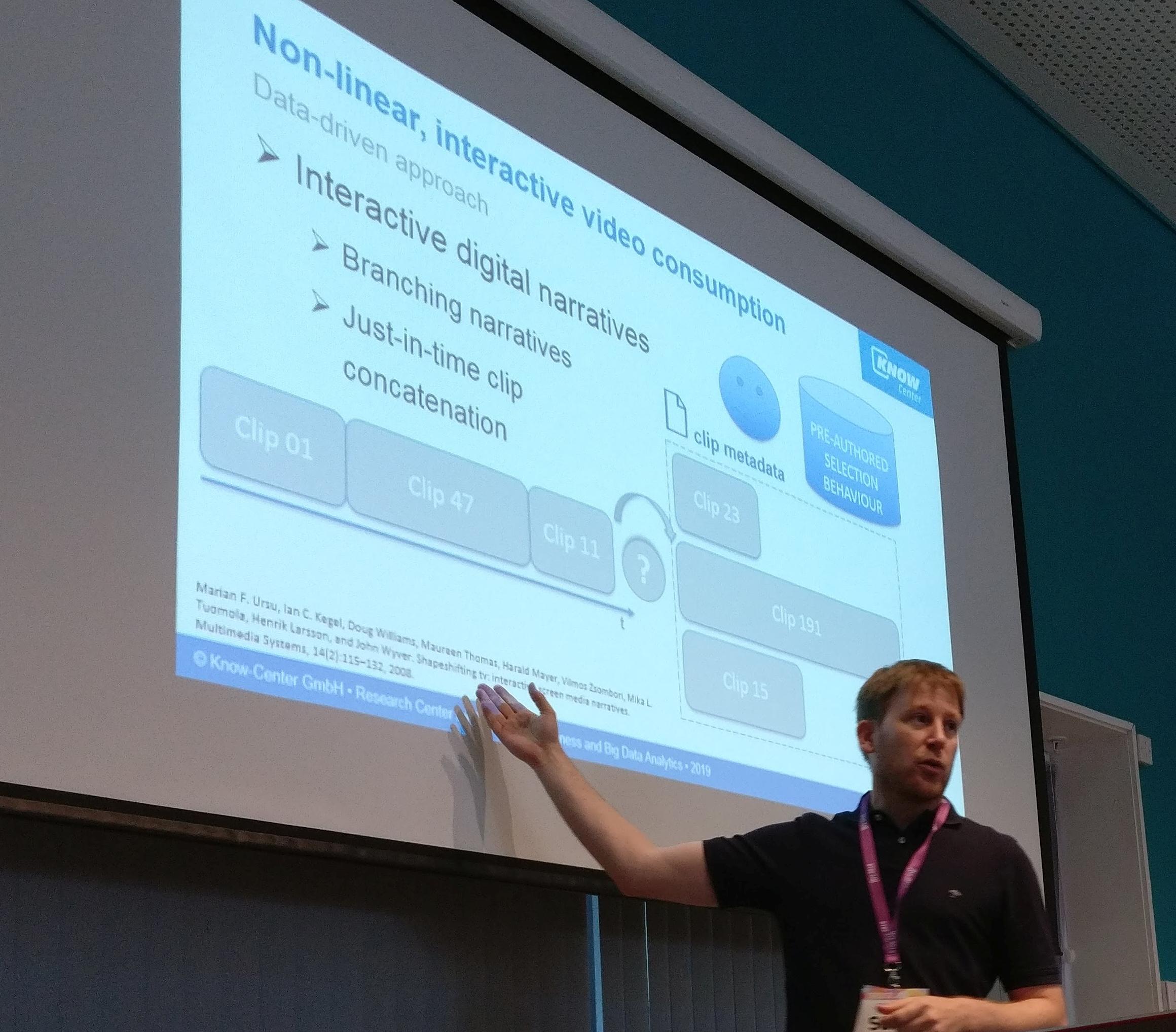 Know-Center auf ACM TVX Konferenz über interaktive Personalisierung von Video-Inhalten