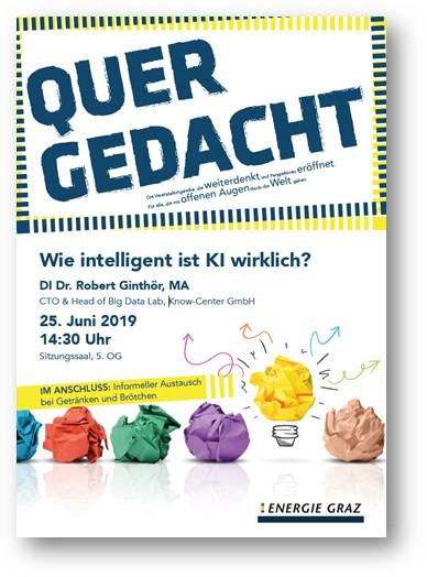 Wie intelligent ist KI wirklich? Know-Center mit Vortrag bei Energie Graz