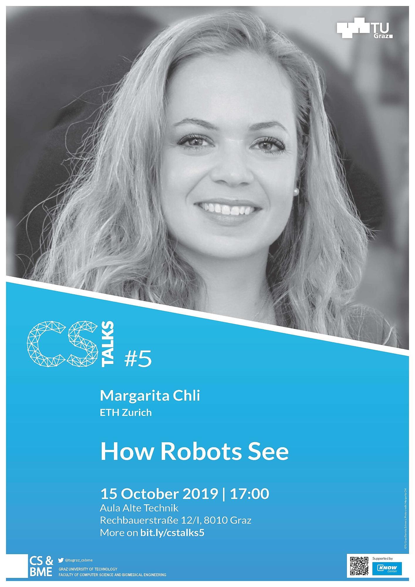 Thema der 5. CS Talks der TU Graz: Visuelle Wahrnehmung von Robotern