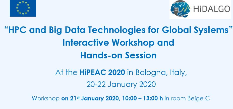 HiDALGO @ HiPEAC 2020 in Bologna am 21. Januar 2020